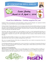 Easter Sunday April 1, 2018